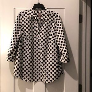 Chico's women's polka dot blouse